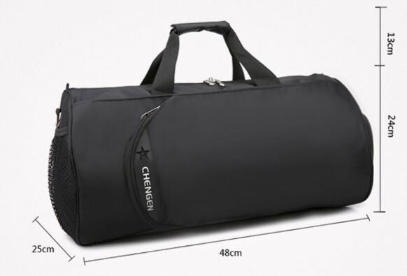 Gym bag  Travel Bag  Weekend bag  Duffle bag- with shoe compartment ...