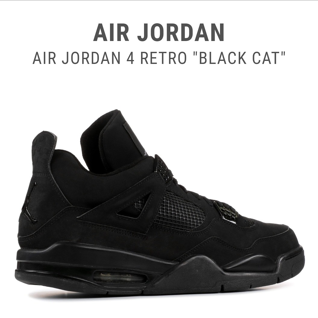 Jordan 4 Retro Black Cat UA 1:1