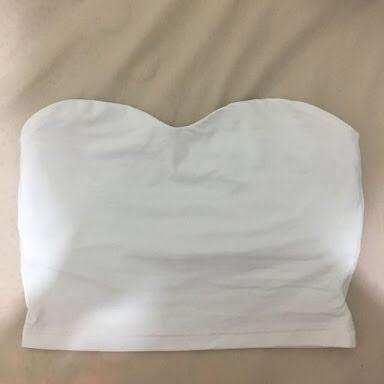 Kookai size 1 white bandeau crop top