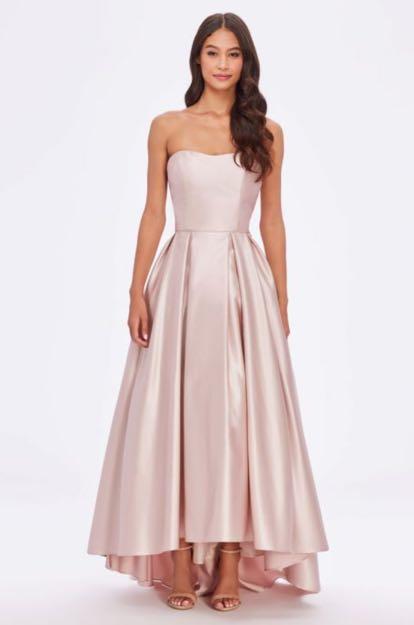 Light pink satin ballgown