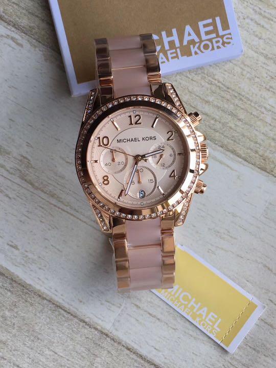 5613dd4bd280 Michael Kors Blair Rose Gold-Tone Chronograph Ladies Watch MK5943 ...