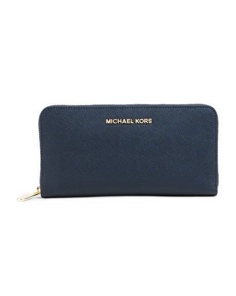 d1576440a32e Michael Kors Jet Set Travel Leather Continental Wallet, Women's ...