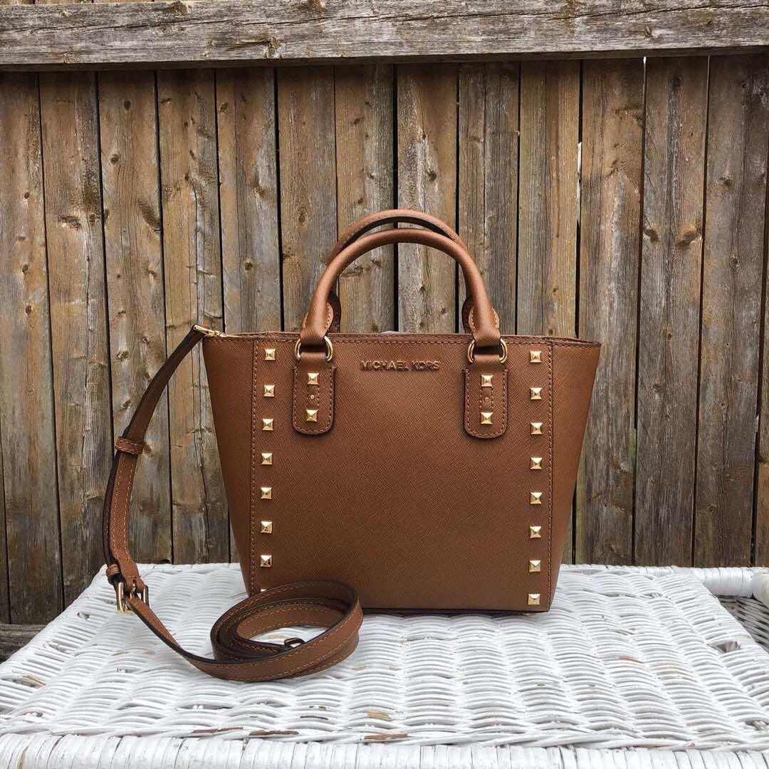 b4f10b702389d8 Michael Kors Sandrine Stud Small Preorder, Women's Fashion, Bags & Wallets,  Handbags on Carousell