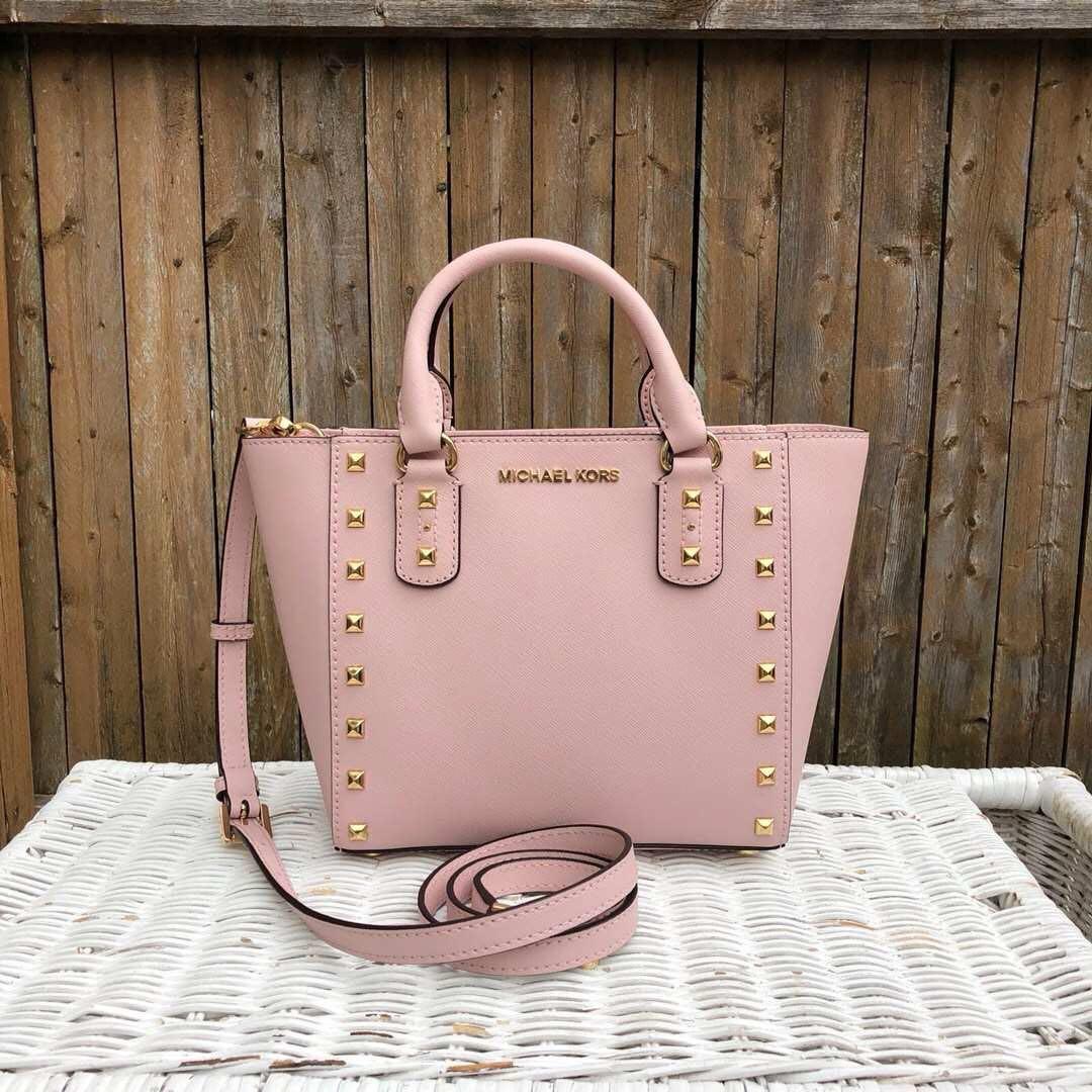 1ad1c3371a967f Michael Kors Sandrine Stud Small Sling Bag Preorder, Luxury, Bags ...