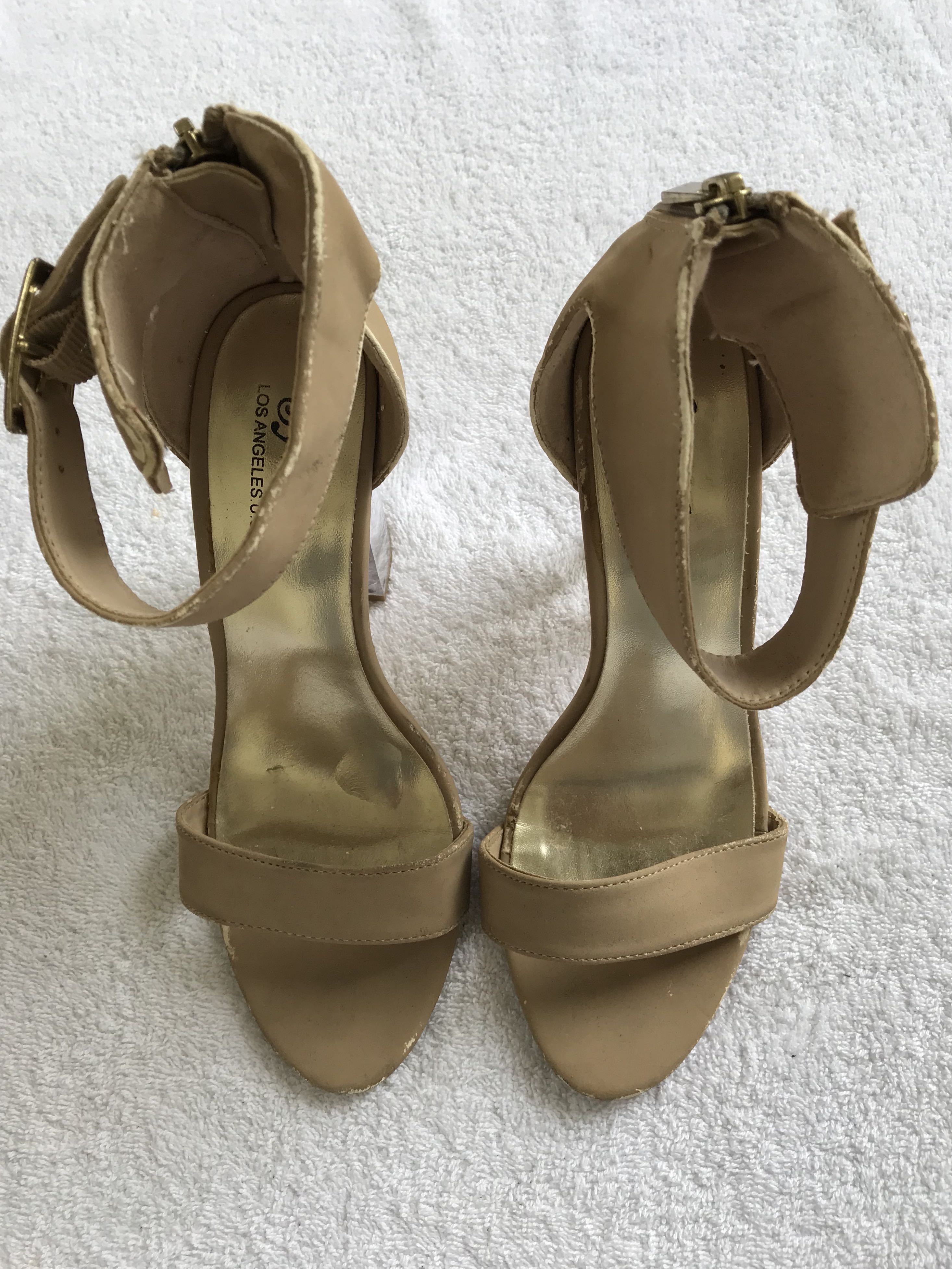 34282f48be7 PEOPLE ARE PEOPLE NUDE ANKLE STRAP HEELS