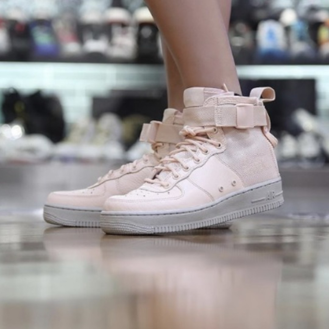 (PO) Nike Womens Air Force 1 Special Forces Particle Beige