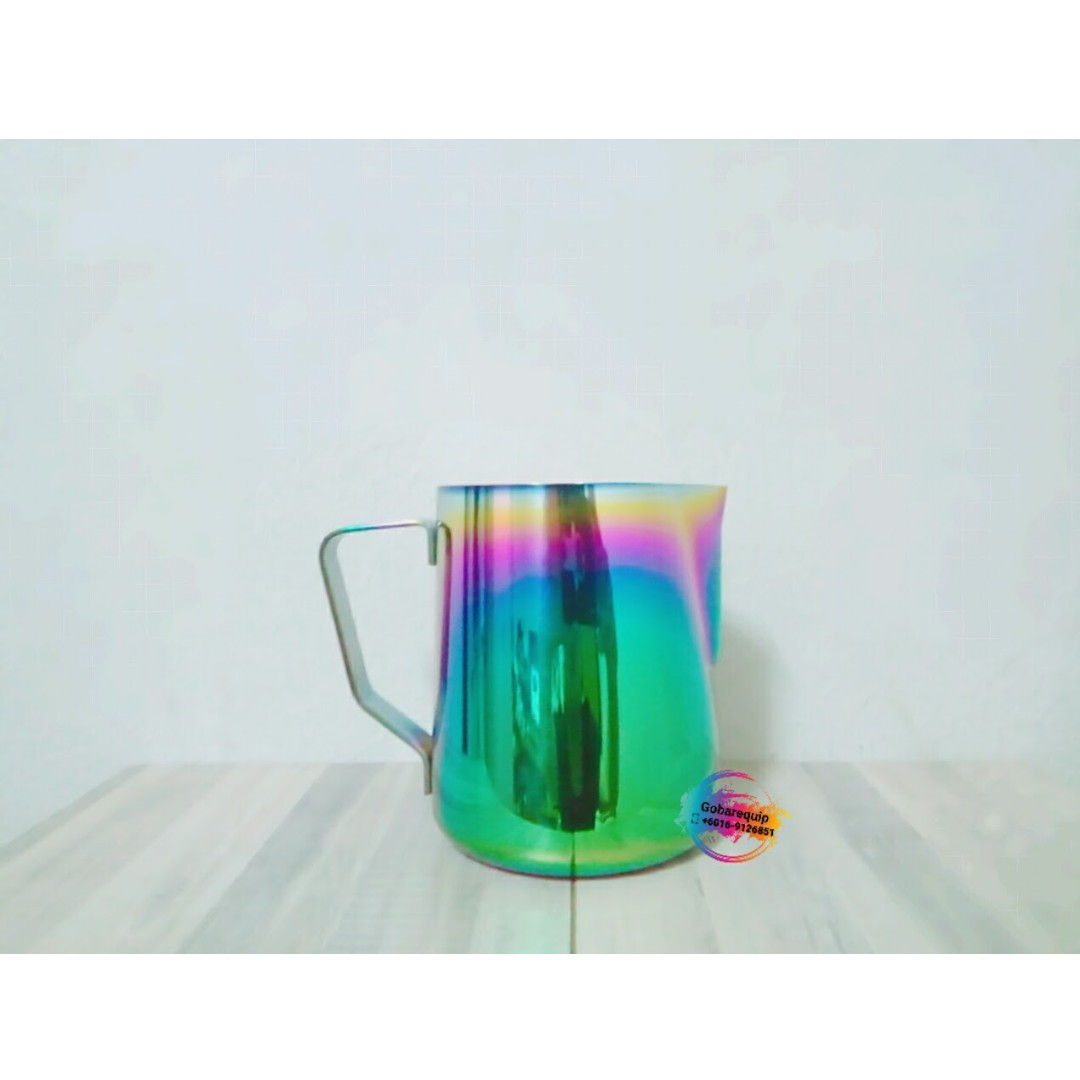 Rainbow Colorful Stainless Steel Milk Frothing Steaming Pitcher Gelas Plastik Tutup Tumbler Colorfull Kitchen Appliances On Carousell