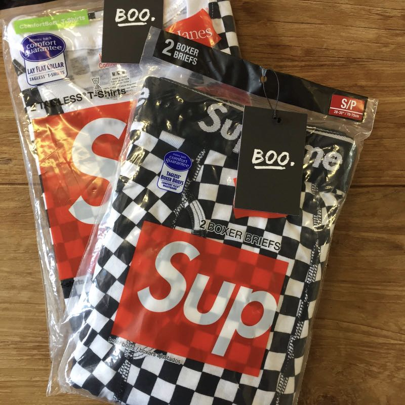 a39d025a6215 Supreme Hanes Checker Boxer Briefs