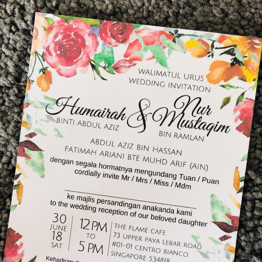 Textured Invitation Cards Design Craft Others On Carousell