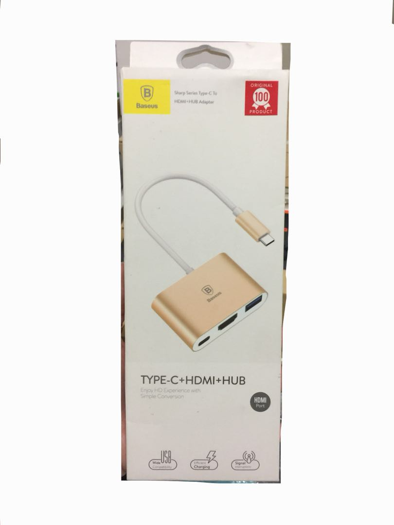 Type C To Hdmi Hub Electronics Others On Carousell Baseus Sharp Series Usb Adapter Share This Listing