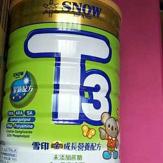 雪印T3 1~7歲奶粉