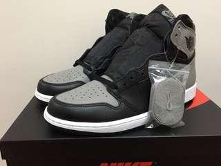 Air Jordan 1 Black/Grey shadow OG US10
