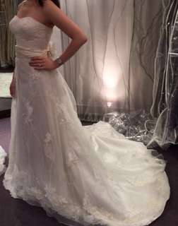 Annasul Y Gorgeous Laced A-Line Wedding Gown with Lace and Long Train