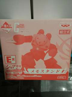 """BNIB! Official Gundam Suit Mobile """"Char Aznable"""" Memo Stand"""