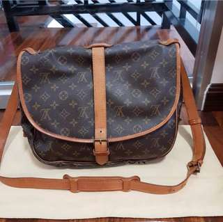 Authentic LV Saumur 35 Monogram