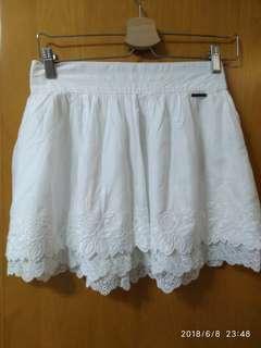 美國 A&F White Lace Skirt 全新