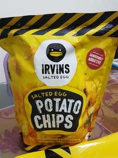 Irvins Salted Egg Potato Chips 230gm (Big) (Bandar Mahkota Cheras)