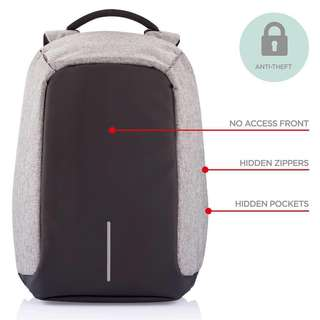 INSTOCKS Anti Theft Laptop Bag for Travelling Overseas Local Use Backpack