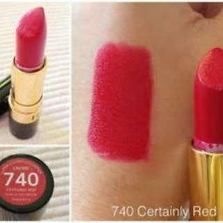 revlon lipstick certainly red