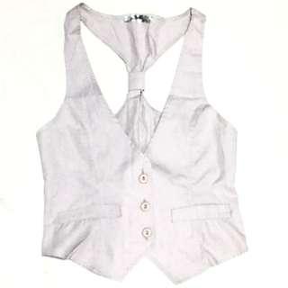 Women's Vest (Gray-White)
