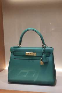 Hermes Kelly 28 絲絨綠
