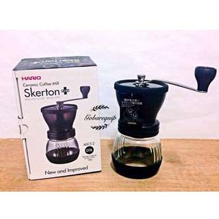 New Version Hario Ceramic Coffee Mill Skerton Plus MSCS-2DTB
