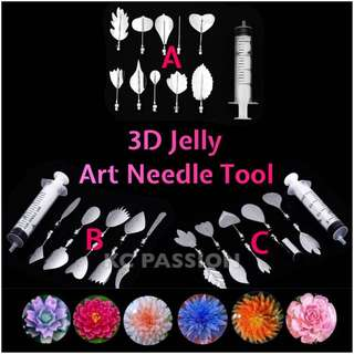 🌺 3D JELLY ART NEEDLE TOOL SET for Jelly Cake • Agar Agar • Gelatin • Jello