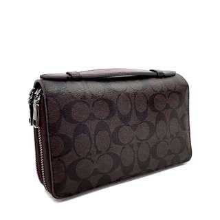 Coach Men's Double Zip Organizer Wallet