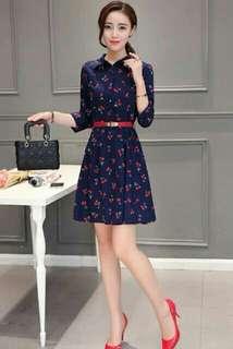 AMK KOREAN DRESS W/BELT