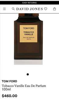 Tom Ford Tobacco Vanille 2ml Sample