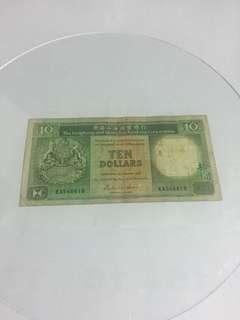 KA546619 經典回憶1986年匯豐10元紙幣