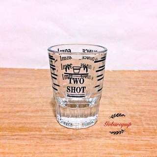 Two Shot Espresso Shot Glass / Measuring Cup 2oz