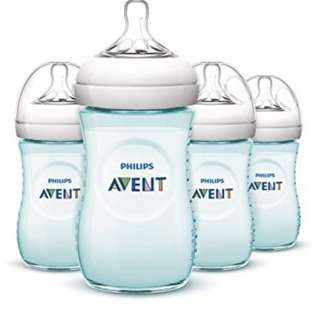 Avent Natural Bottle<Teal Colour 1 Bottle free extra 1m+ Teat brand new>