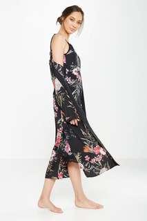 [po open] cotton on - long kimono gown