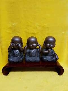 Monks Porcelain display x3