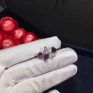 Chaumet 尚美 蜜蜂彩寶鑽石戒指