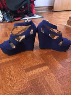 Cobalt Summer Wedges