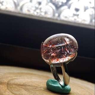 💝出清特價中~招愛情、好人緣必備  天然🍓草莓晶戒指(s925銀)