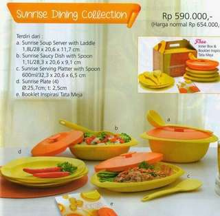 Sunrise dinning collection tupperware