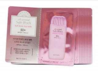 Missha All Around safe Block Soft Finish Sun Milk SPF50