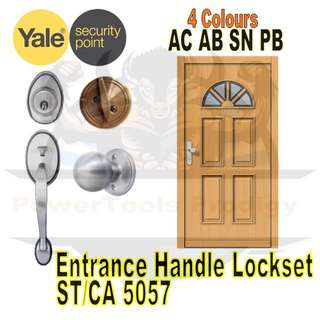 [NEW] YALE ENTRANCE SECURITY DOOR LOCKSET ST/CA5057