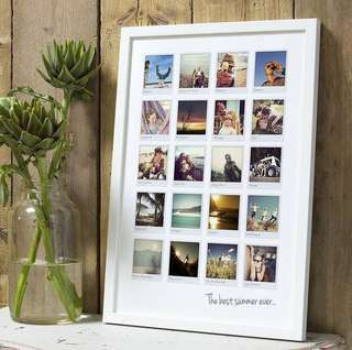 Customise Polaroid Memories Frame | A4 ZigZag & Polka Dots.