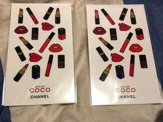 Chanel sticker coco game centre 貼紙 全新