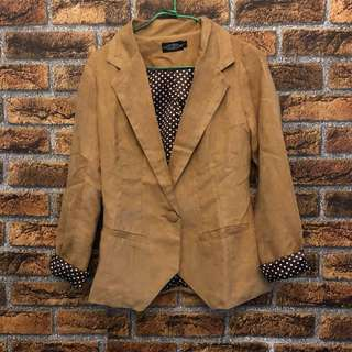 TCL suede brown Blazer