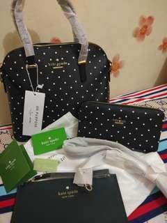 Kate Spade 2in1Bag bundled with Wallet & Wristlet