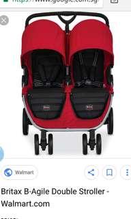 Britax Twin Double B agile stroller