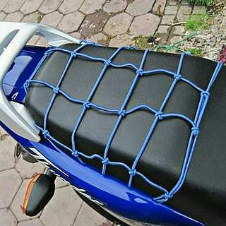 MOTORCYCLE LUGGAGE CARGO NET BAG HELMET STRETCHABLE MESH DECORATIVE STORAGE CARRIER