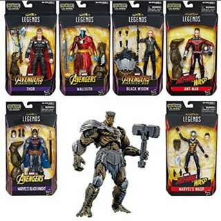 MISB Marvel Legends Avengers Infinity War Ware 2 Set Of 6 Complete With Cull Obsidian Baf Action Figures