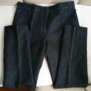 HERMES Navy Denim Pants (New)