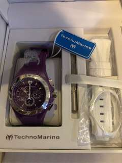 TechnoMarine Cruise Locker Purple Dial Watch